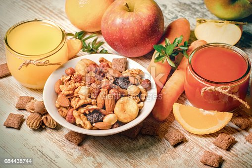 istock Healthy drinks and healthy food 684438744