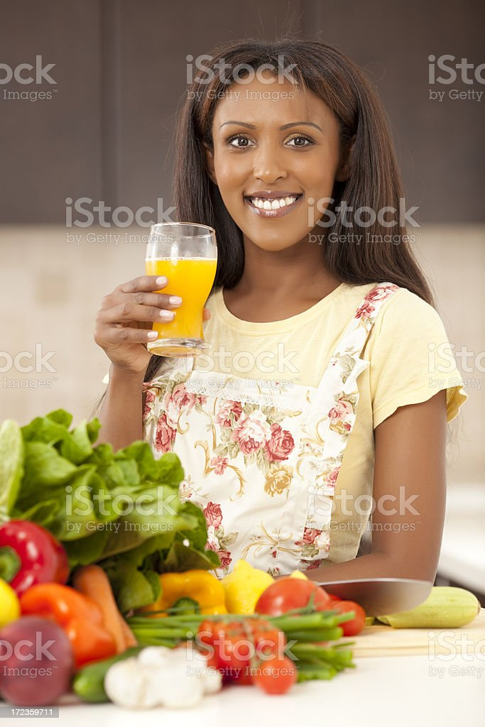 Healthy eating and drinking. royalty-free stock photo