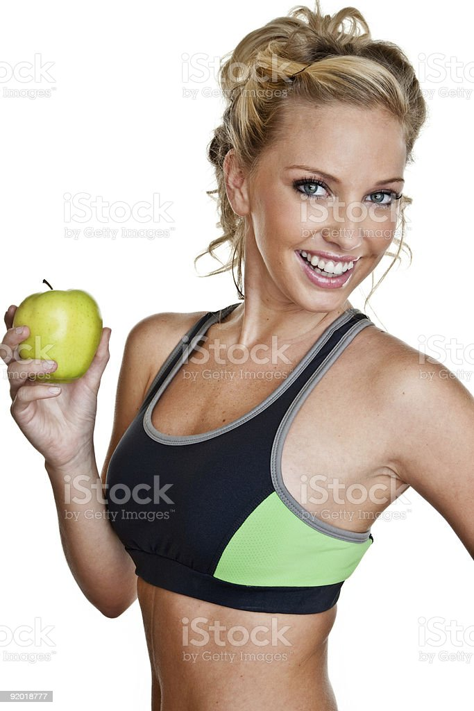 Healthy eating and fitness royalty-free stock photo