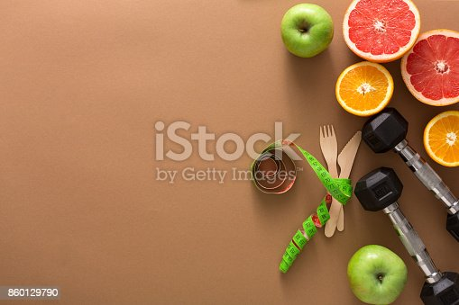 istock Healthy eating and slimming background copy space 860129790