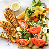 Healthy eating - chicken breast with vegetables
