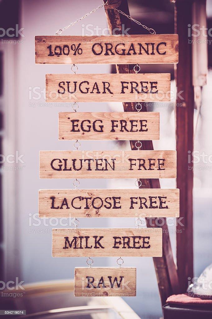 Alimentación saludable concepto - foto de stock