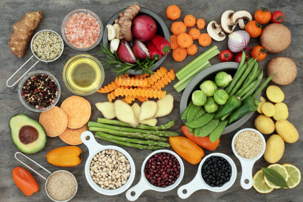 Alimentos sanos comer - foto de stock