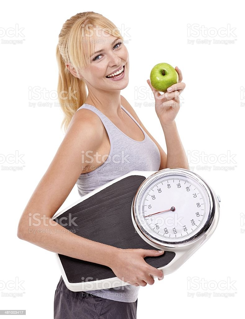 Healthy eating for a slim body royalty-free stock photo