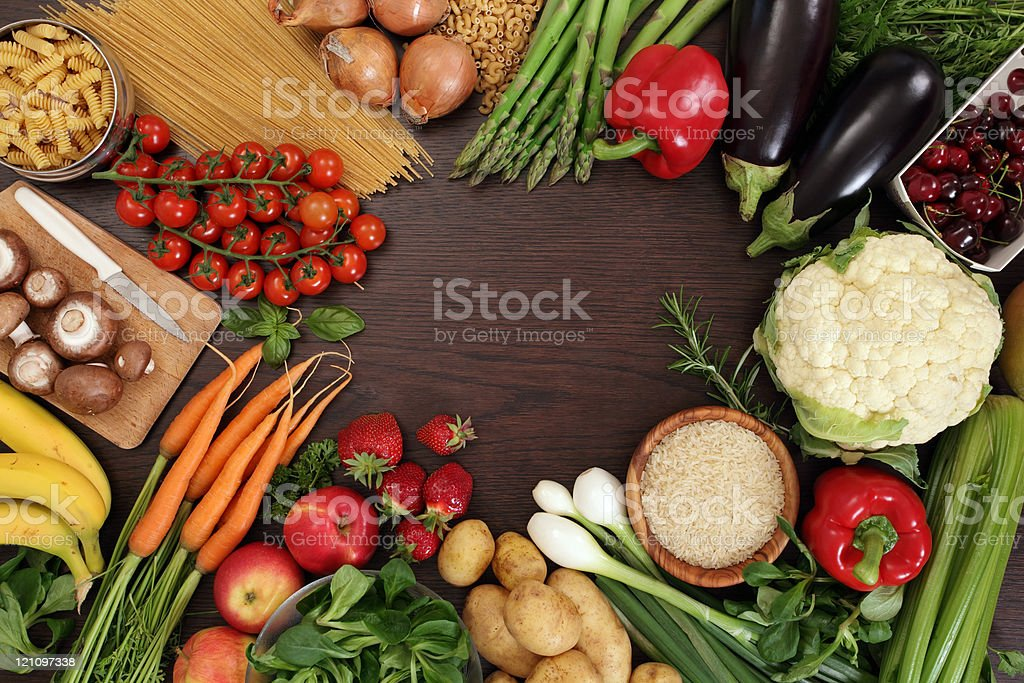 Healthy eating frame royalty-free stock photo