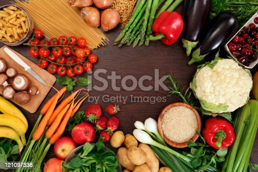 istock Healthy eating frame 121097338