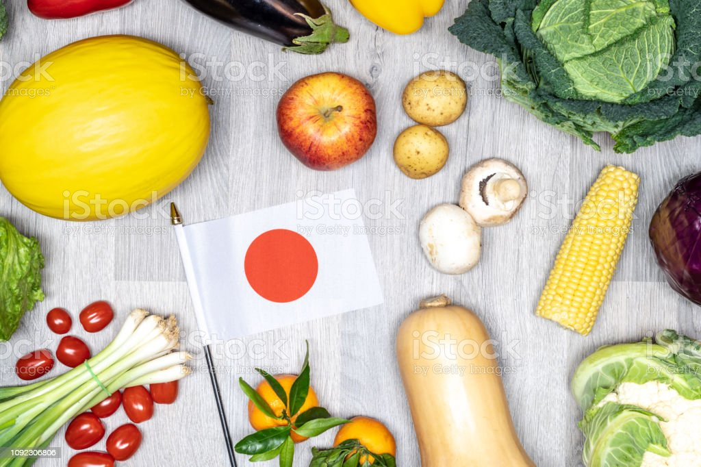 Healthy eating in Japan stock photo