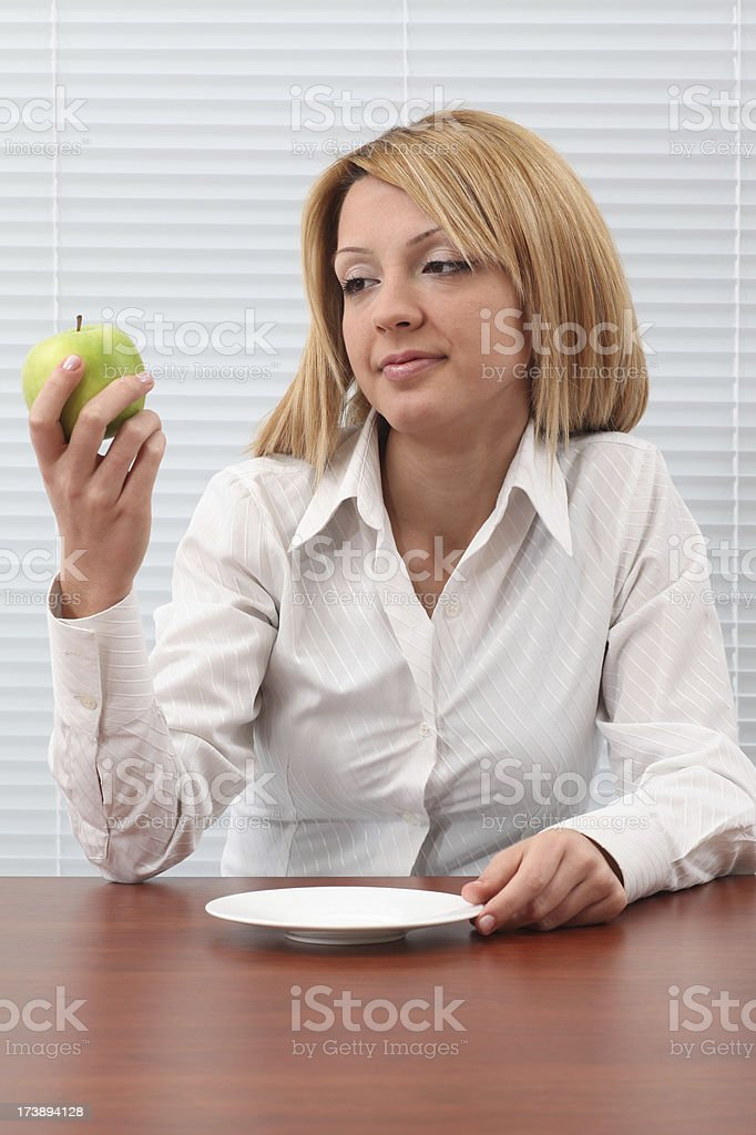 Healthy Eating In The Office royalty-free stock photo