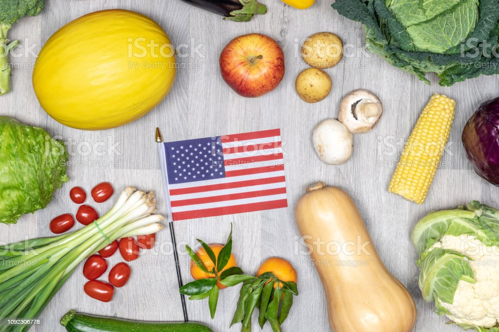 Healthy eating in the USA stock photo