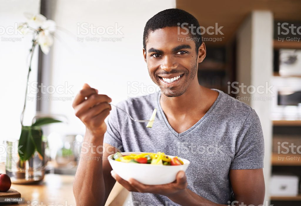 Healthy eating is a priority for me! stock photo