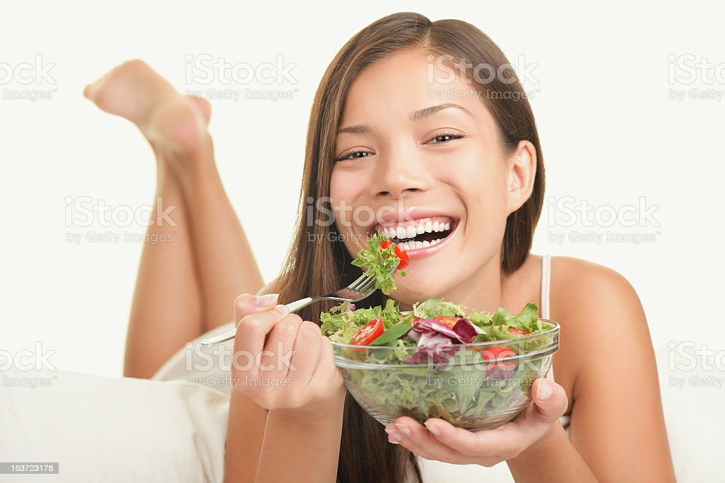 Healthy eating lifestyle woman stock photo