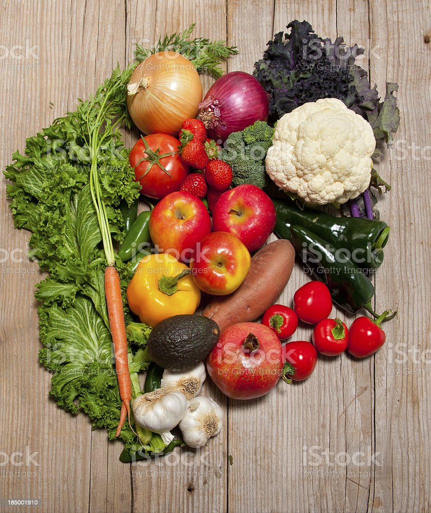 Healthy Eating, Organic Fruits and Vegetables royalty-free stock photo