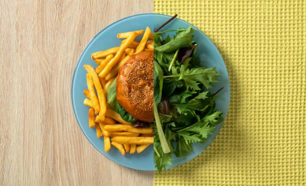 alimentação saudável - meio cheio - fotografias e filmes do acervo