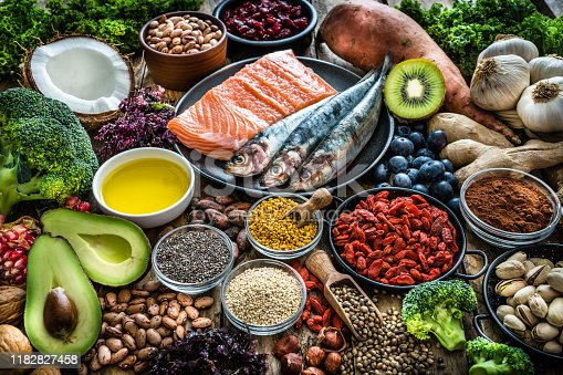 854725402 istock photo Healthy eating: selection of antioxidant group of food 1182827458