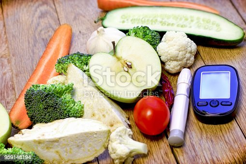 Healthy eating to health without diabetes, concept of healthy diet and regular control of sugar to avoid diabetes
