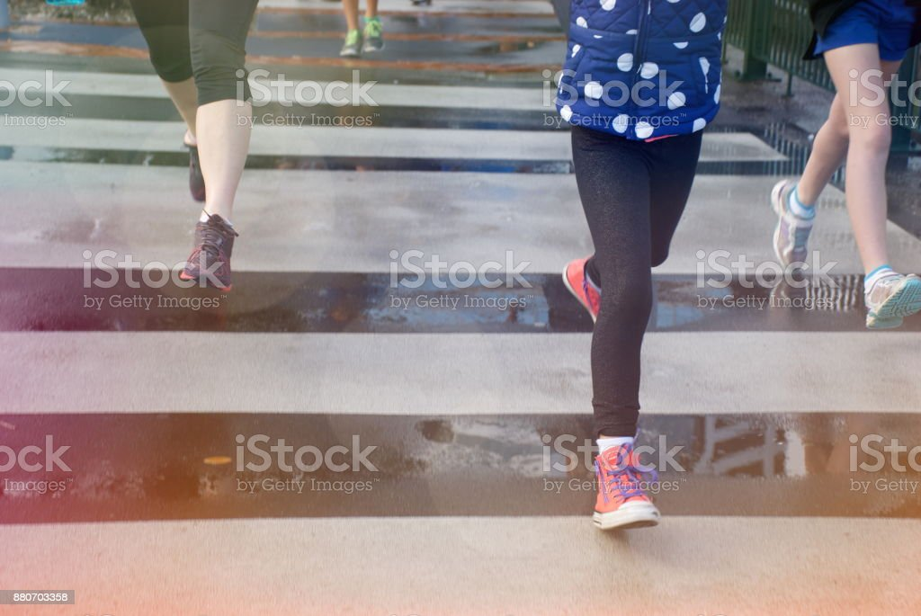 Healthy Family Lifestyle Runners Background stock photo