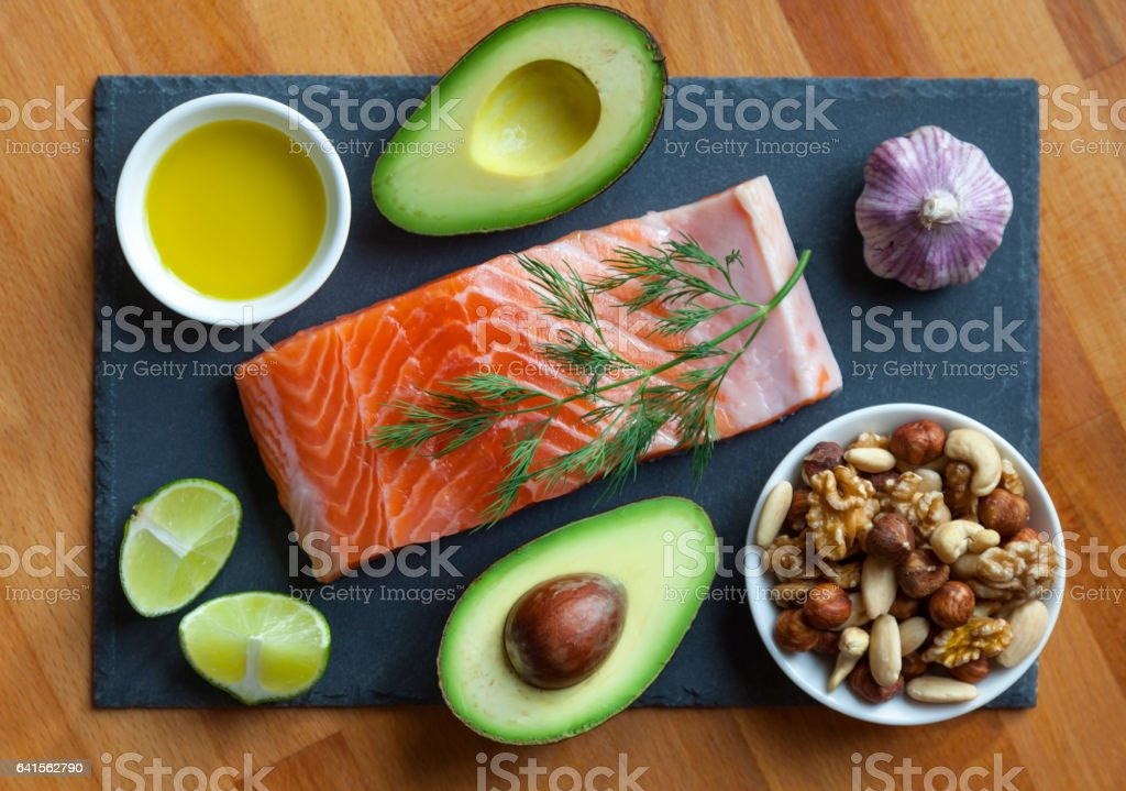 Healthy Fat Foods royalty-free stock photo