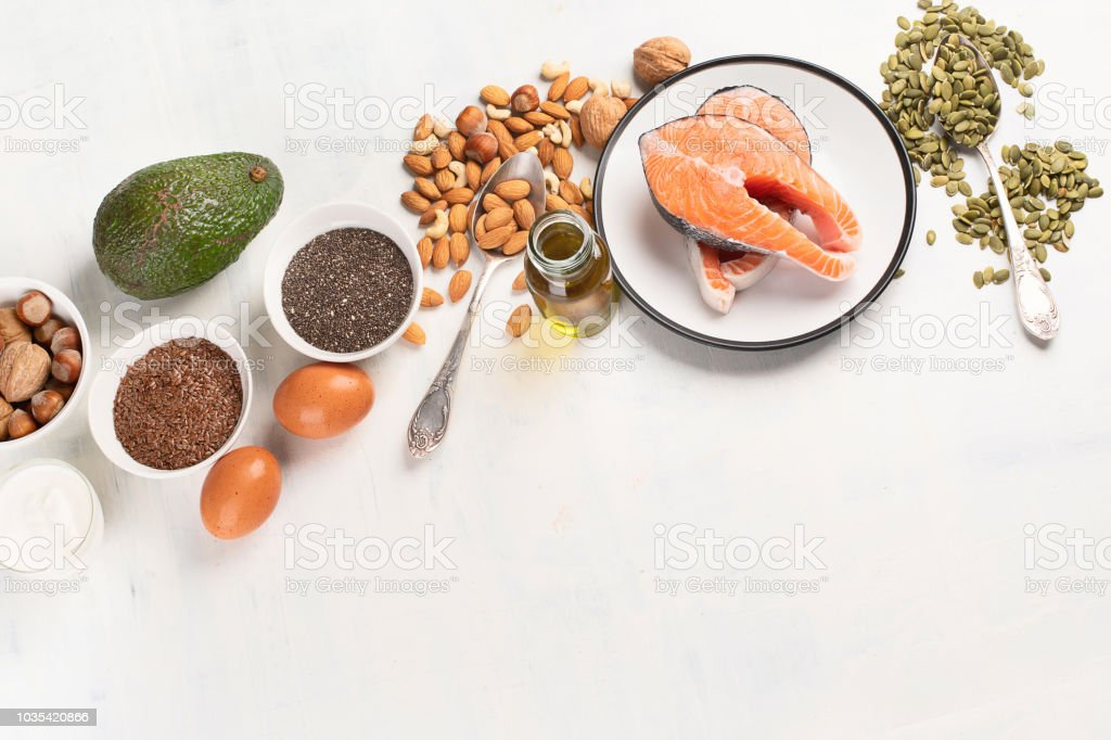 Healthy fat source royalty-free stock photo