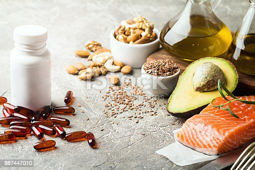 istock Healthy fats in nutrition. 887447010