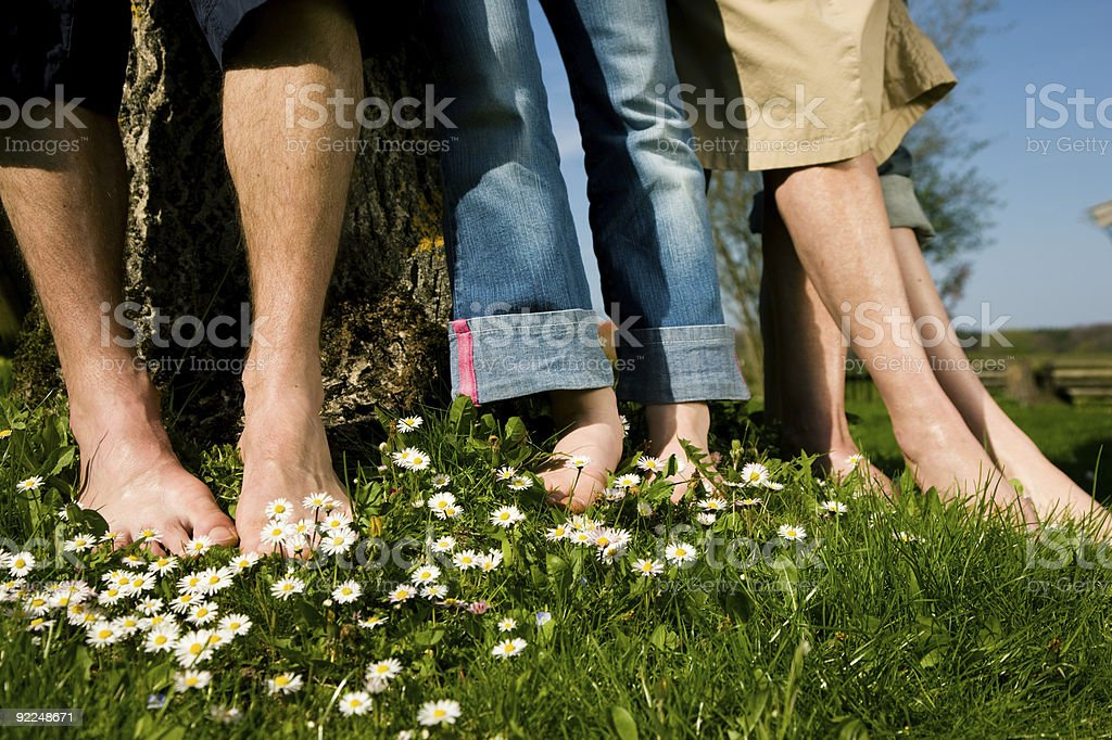 Healthy feet: In a row royalty-free stock photo