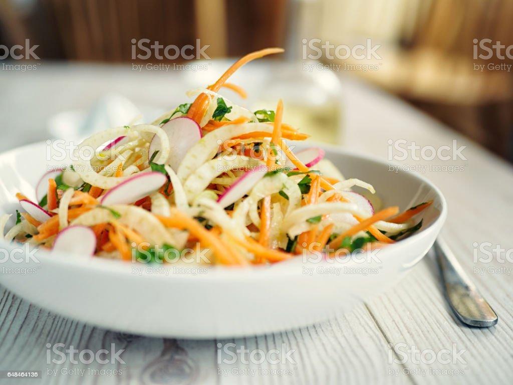 Healthy fennel slaw stock photo