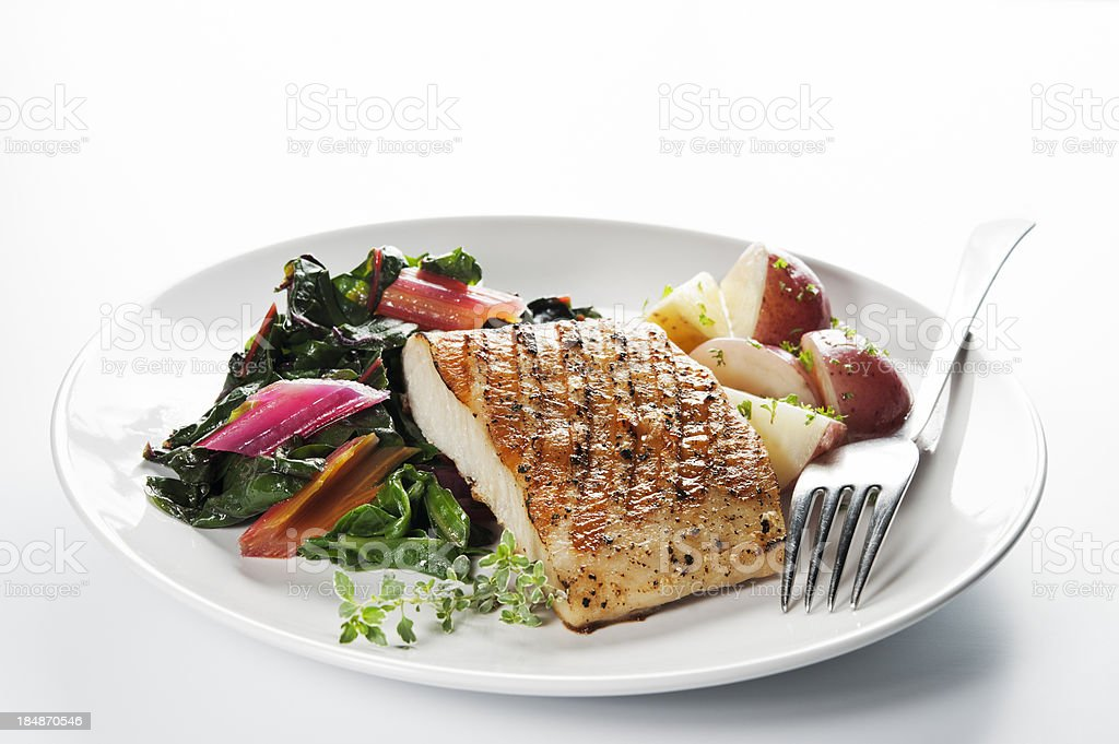 Healthy Fish Dinner royalty-free stock photo