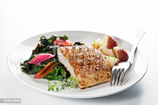 istock Healthy Fish Dinner 184870546