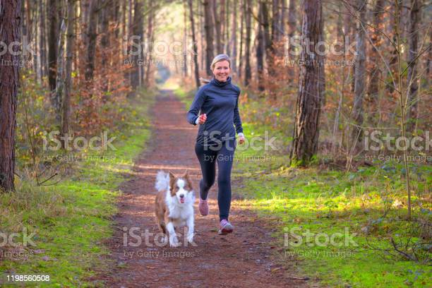 Healthy fit woman running with her dog picture id1198560508?b=1&k=6&m=1198560508&s=612x612&h=cc6ycwkgx4axp1m6i65obi8zichrfxo4fndukhvhyh8=