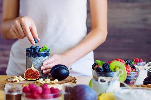 istock Healthy fitness food for breakfast 1164834807