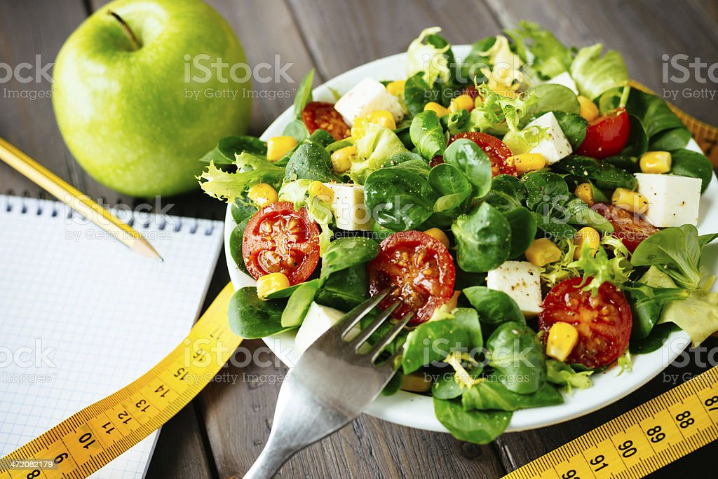 Gesunde fitness grünem Salat – Foto