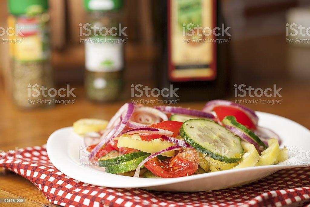 Healthy fitness salad stock photo