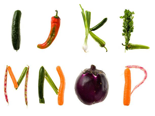 XXL Healthy Food Alphabet stock photo