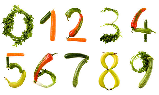 xxl healthy food alphabet - number stock pictures, royalty-free photos & images