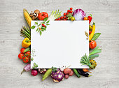 istock Healthy food and copy space. 516504314