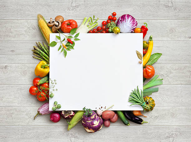 Healthy food and copy space. stock photo