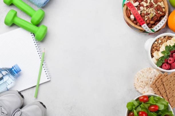 Gesundes Essen und Fitnesskonzept – Foto