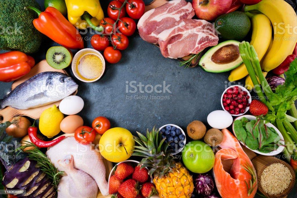 Dieta de carne verduras y frutas