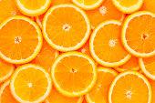 ヘルシーなお料理、バックグラウンド。オレンジ色
