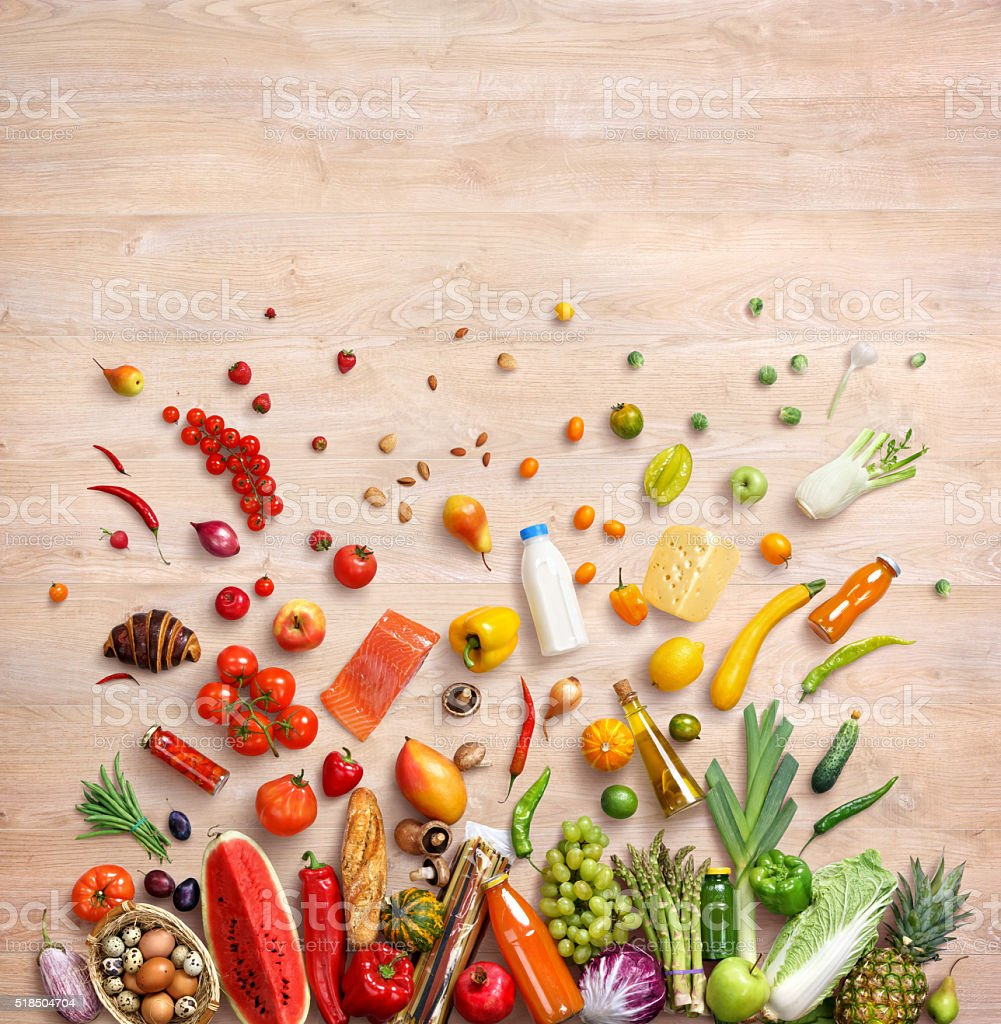 Healthy food background. stock photo
