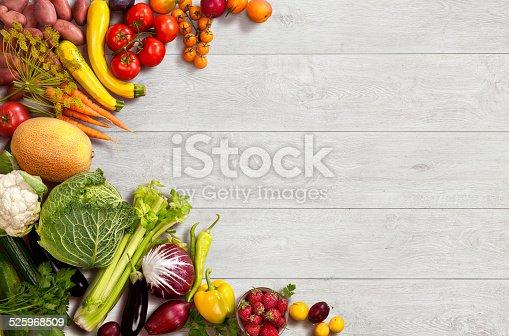 507328769 istock photo Healthy food background 525968509