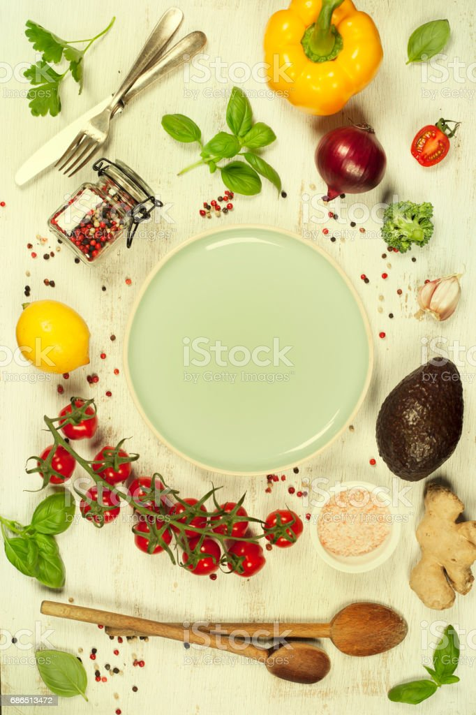 Healthy food background foto stock royalty-free
