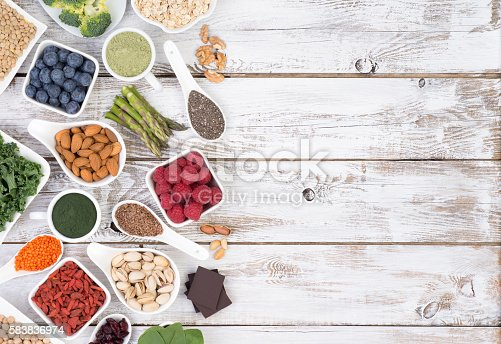 istock Healthy food called super foods 583836974