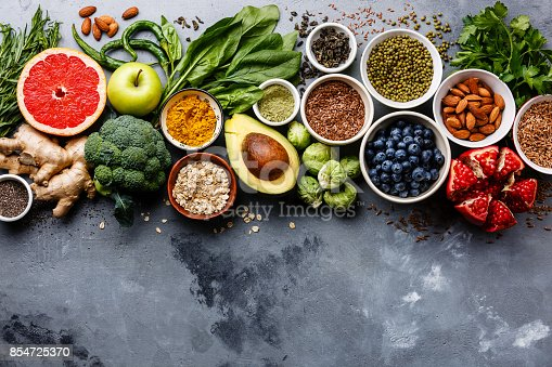 istock Healthy food clean eating selection 854725370