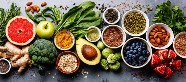 健康食品清潔飲食選擇 - 清新 個照片及圖片檔
