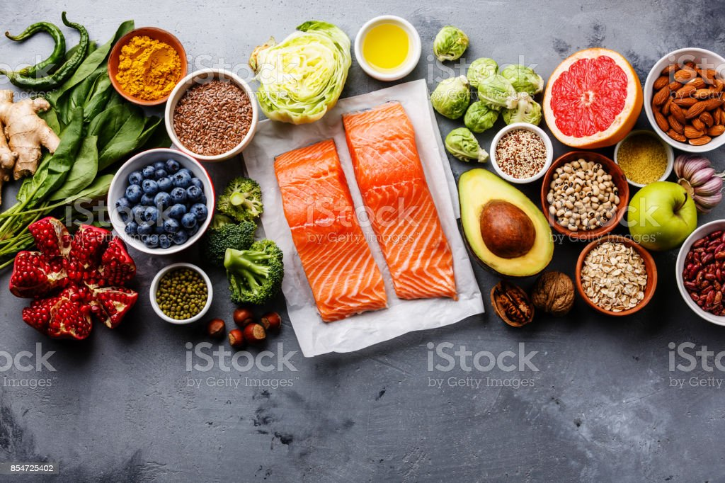Healthy food clean eating selection - Royalty-free Acid Stock Photo