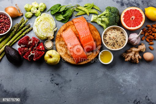 istock Healthy food clean eating selection 879275790
