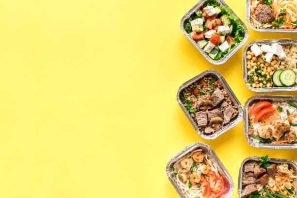 Healthy food delivery stock photo