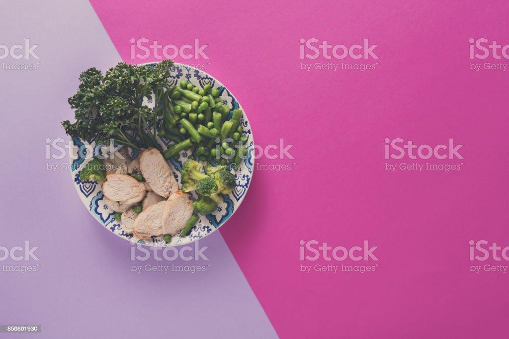 Dieta del pollo y verduras
