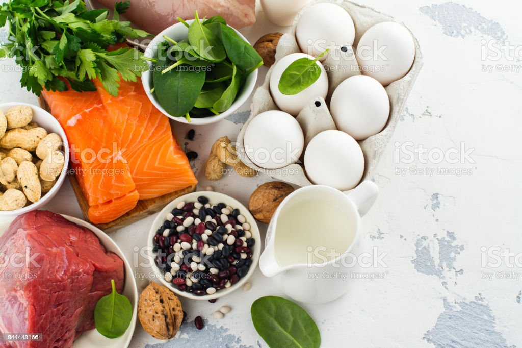 Healthy food for beautiful hair stock photo