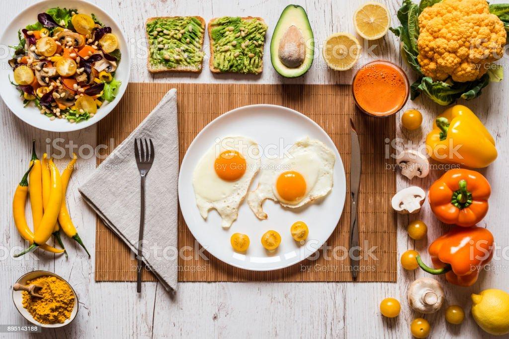 ensalada de verduras para el desayuno